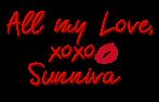 All my love xoxo Sunniva